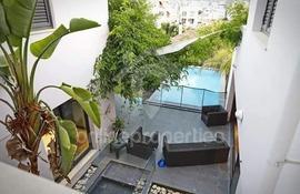 Unique luxury home with swimming pool and unique high rise architecture in Aglantzia