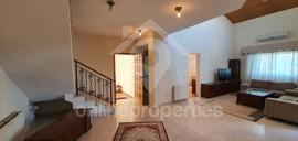 250 sq.m. Duplex furnished upper house of 3bedrooms with an office area
